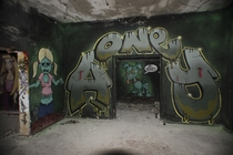 Some amazing graffiti in an abandoned factory