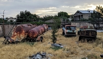 Some beautiful rust on these abandoned tanks and trucks in Armenia