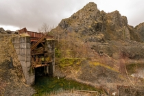 Some kind of abandoned processing facility at a disused quarry near Tillicoultry Scotland