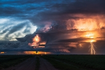 Some lightning in Saskatchewan Canada
