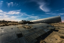 Some military planes left to rot in the desert