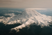 Some Mount Rainier action from the plane