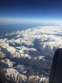 Some nice mountains I saw whilst flying over Antignac France  x