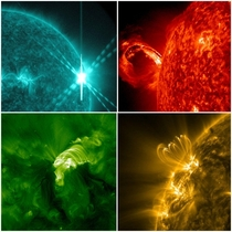 Some of the images of our Sun captured by NASAs SDO satellite For  years it has taken  million images of Sun amp produced k scientific papers CreditNASA Goddard