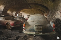 Some old Cars in abandoned parking by Berrie Leijten