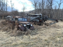 Some old farm equipment left behind in Montana
