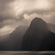 Some perspective of Milford Sound Fjordland NZ