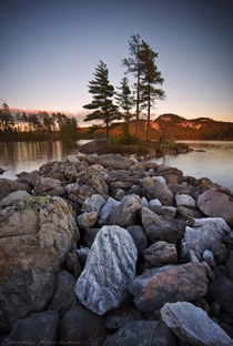 Some rugged shoreline in Killarney ON Canada  IG sarahfurch