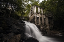 Some slow silky water at the Carbide Willson Ruins Meech Lake Quebec