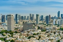 Somehow random placement of high buildings works for Tel Aviv
