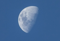 Someone suggested taking a picture of the half moon Here it is