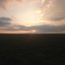 Something a little simpler - Early sunrise over a field Sussex England