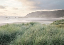 Something special about misty ocean air and beautifully subtle sunset light Cannon Beach OR