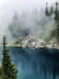 Sometimes cloudy hikes in Washington can be the most rewarding Alpine Lakes Wilderness  IGhikedailyprn