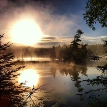 Sometimes getting up at am can be worth it - taken on my phone somewhere near Aubrey Falls and Massissagi Prov Park ONCA