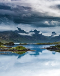 Sometimes in Lofoten Norway all you need to do to get the shot is wind your car window down