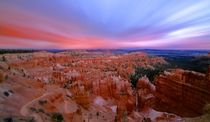 Sometimes looking against sunset can surprise you Bryce canyon composed using  timelapse photos oc