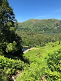 Sometimes the UK actually looks like Hawaii It actually is that green Last Summer Grasmere Water from half way up Loughrigg Fell