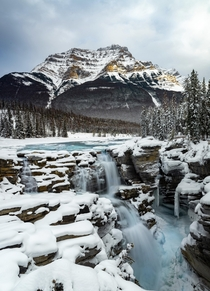 Sometimes you have to stop and take in the full view  Athabasca Falls Jasper NP Canada