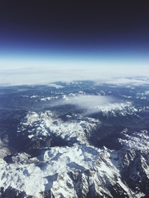 Somewhere above the Alps on my way to Cyprus