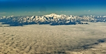 Somewhere in the Himalayas  Taken from a commercial aircraft at  ft Enroute from New Delhi to my hometown of Guwahati