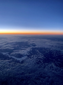 somewhere in the sky  minutes before the sunrise in Canada