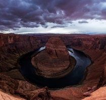Sorry for contributing to overflow of this spot but couldnt help but to share Horseshoe Bend Arizona during a storm