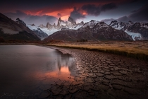 Sort of aprimordial atmosphere in this one  in Fitz Roy mount in Patagonia by Xavier Jamonet