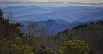 Sothats why they call it the blue ridge huh Blue Ridge Parkway NC