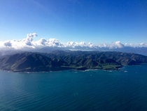South Coast of Wellington New Zealand from above