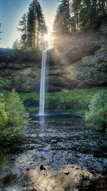 South Falls Sunrise  Silver Falls State Park Oregon