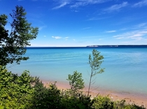 South Manitou Island Looking to North Manitou Michigan