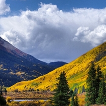 South of Ouray Colorado along US  - the million dollar highway to Silverton -