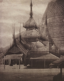 South Tazoung of the Shwe Dagon Pagoda Rangoon Burma photo by Linnaeus Tripe