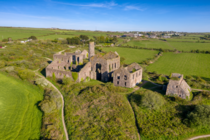 South Wheal Frances tin mining ruins Cornwall England   By Terry McMorrow