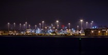 Southampton docks by night