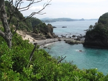 Southeast Japan has some amazing vistas - near Kisami Omaha beach Shimoda Prefecture  x
