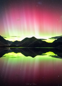 Southern Lights from Moke Lake Queenstown New Zealand Taken   south_of_home