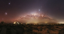 Southern sky over the Atlantic Ocean - Panorama of  shots to achieve a resolution of  by  pixels