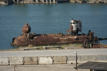 Soviet-era research submersible BENTHOS- abandoned and stripped for metal
