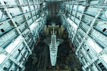 Soviet-era space shuttles left behind at the Baikonur Cosmodrome in Kazakhstan  Photographed by David de Rueda