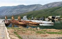 Soviet made Whiskey Class submarines left abandoned in Albania after the break up of the Soviet Union