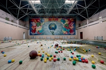 Soviet Sports hall Russia by Rebecca Bathory in Soviet Ghosts