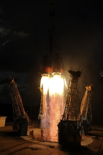 Soyuz VS with the ESAs Sentinel-A satellite lifts off
