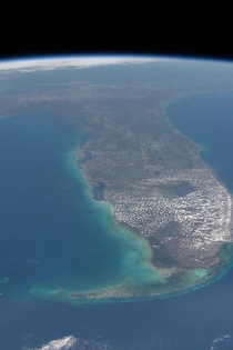 Space clouds over Florida by astronaut Nick Hauge
