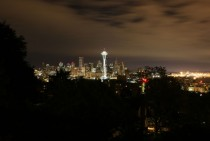 Space Needle and Seattle all Lit Up