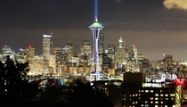 Space Needle in Blue Seattle