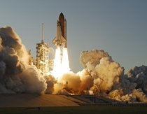 Space Shuttle Atlantis STS- mission launches from the Kennedy Space Center The mission delivered a second starboard truss segment and associated energy systems to the ISS -- June
