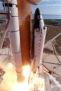 Space Shuttle Columbia lifting off on its final launch x