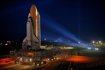 Space Shuttle Discovery on Mobile Launch Platform